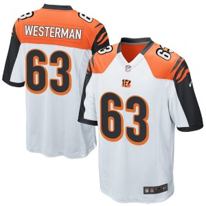 Nike Christian Westerman Cincinnati Bengals Youth Game White Jersey