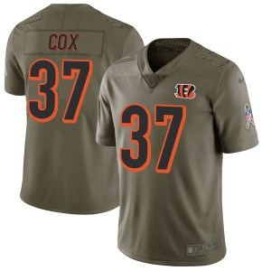 Nike Demetrious Cox Cincinnati Bengals Youth Limited Green 2017 Salute to Service Jersey