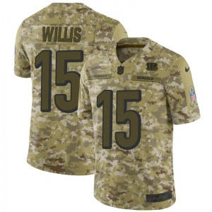 Nike Damion Willis Cincinnati Bengals Youth Limited Camo 2018 Salute to Service Jersey